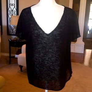 One Clothing Los Angeles Sheer V-Neck Top
